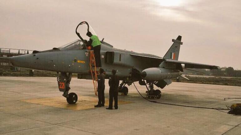 The Jaguar jet was damaged during landing