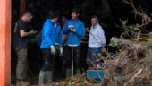 Rafael Nadal helped clear mud from people's homes after Mallorca floods