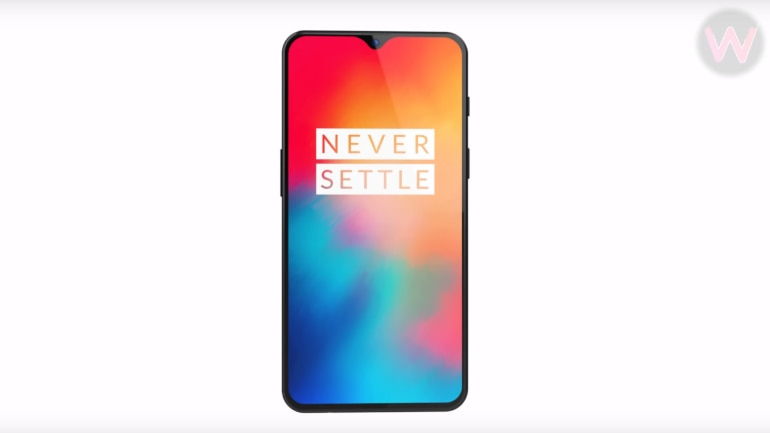 This is the OnePlus 6T with its tiny notch