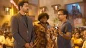 Vijay, Yogi Babu and AR Murugadoss on the sets of Sarkar