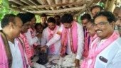 Feed, knit, bathe, shave: Candidates woo Telangana voters in a whole new way