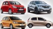 Hyundai Santro vs Maruti Suzuki Celerio vs Tata Tiago vs Renault Kwid, a spec comparo