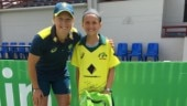 Olivia playes for Bulimba Cricket Club's all-female team
