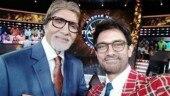 Aamir Khan shoots for Kaun Banega Crorepati 10 with Amitabh Bachchan