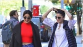 Alia Bhatt and Priyanka Chopra enjoy a day out in New York City.