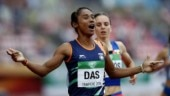 Hima Das won a gold medal at the U-20 World Championship in Finland