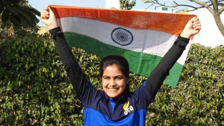 Manu Bhaker claimed gold in the 10m air pistol event at the Youth Olympics (Photo: Twitter/OGQ India)