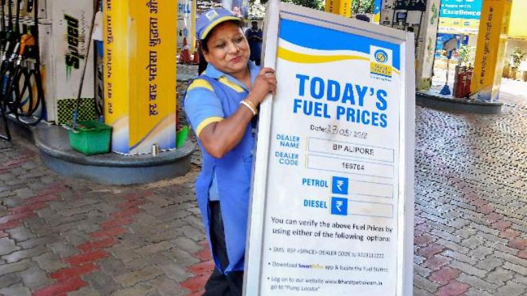 Petrol prices drop by Rs 5 in BJP-ruled states