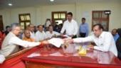 Chhattisgarh CM Raman Singh files nomination in Yogi Adityanath's presence