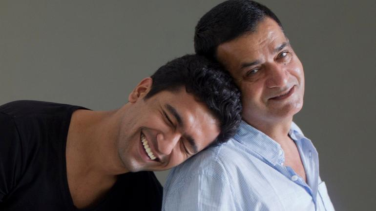 Vicky Kaushal with his father Sham Kaushal