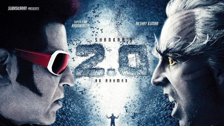 Rajinikanth and Akshay Kumar in 2.0 poster.