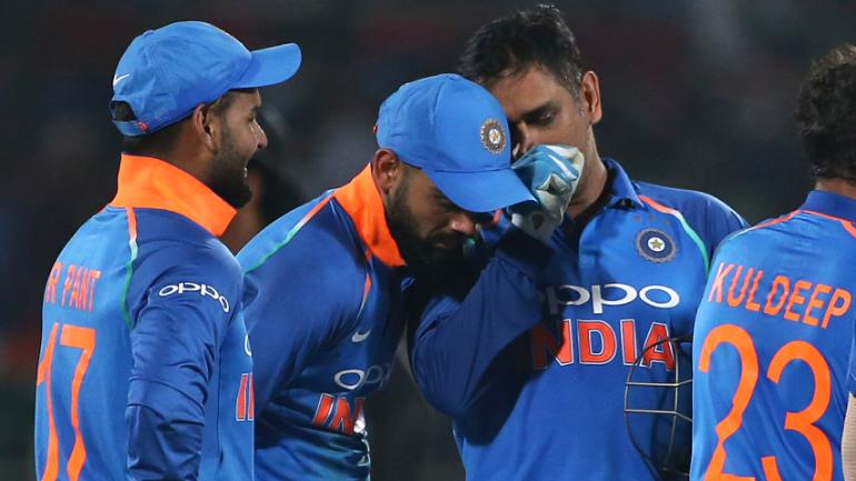 Virat Kohli defended MS Dhoni's presence in the ODI side after the fifth ODI against West Indies