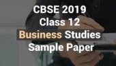CBSE Class 12 Exam 2019: Check the sample paper for Business Studies here