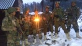 Jawans posted along the Line of Control in Jammu and Kashmir celebrated Diwali with their colleagues as they do every year.