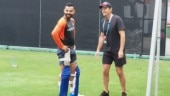 India trained hard at the Gabba where they take on Australia on Wednesday