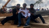 Rajamouli shares a picture with Ram Charan and Jr NTR on the sets of RRR
