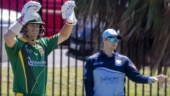 Steve Smith and David Warner were involved in a cricket match together for the first time since the ball-tampering scandal