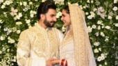 Ranveer Singh and Deepika Padukone at Mumbai reception