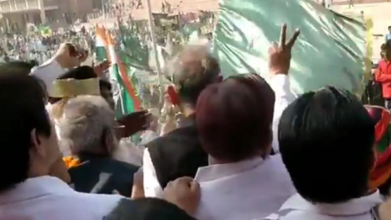 Green flags in Gehlot's function are not Pakistan's national flag