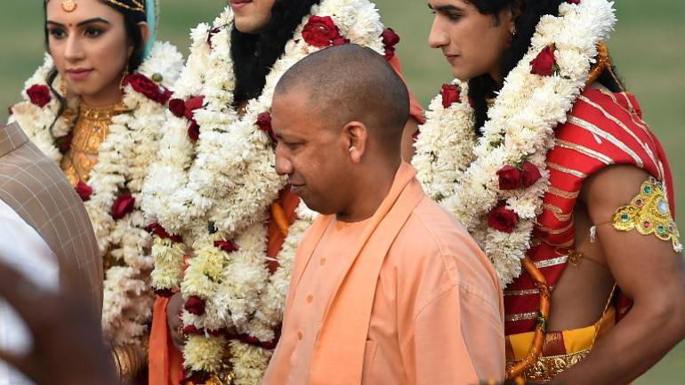 Uttar Pradesh Chief Minister Yogi Adityanath said he had visited two spots being considered to build the Ram statue. (Photo: PTI)