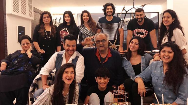 Boney celebrated his birthday with the Kapoor family.