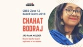 CBSE Class 12 third rank holder 2018