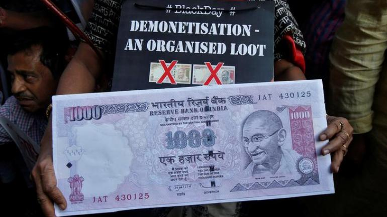 Congress protest against demonetisation protest