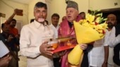 "Farooq Abdullah said meeting Chandrababu Naidu is ""about saving the nation, with different religions"" (Photo: Twitter/@ncbn)"