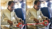 Fact Check: Photo of Shivraj Singh Chouhan ​feasting on non-veg food is morphed