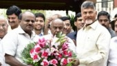 In fight against BJP, Chandrababu Naidu meets Deve Gowda and Kumaraswamy