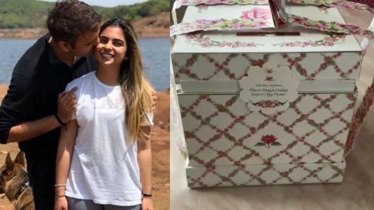 Isha Ambani and Anand Piramal wedding invite