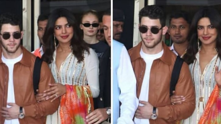 Nick Jonas and Priyanka Chopra look loved-up at puja ceremony
