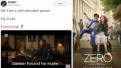 Shah Rukh Khan's Zero trailer sets the internet on fire. Best memes, jokes and reactions