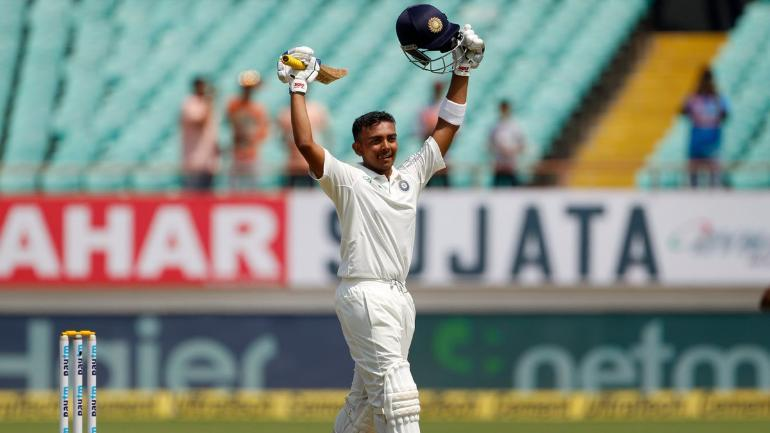 Prithvi Shaw finished the two-match Test series against the Windies with 234 runs and bagged the man-of-the-series award (AP Photo)