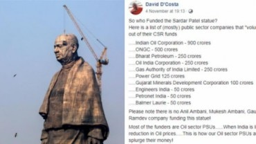 Statue of Unity funding