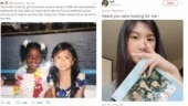 Twitter helps childhood friends reunite after 12 years.