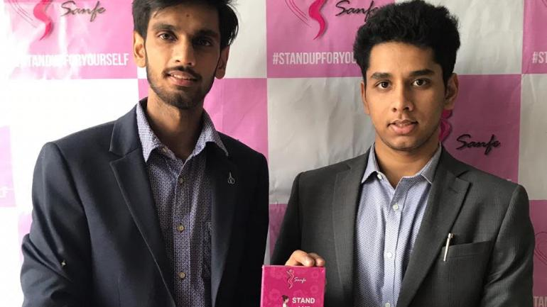 Archit Agarwal and Harry Sehrawat, the 19-year-old BTech students at IIT-Delhi, developed the stand and pee device.