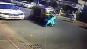 The incident was caught on CCTV. (Photo: A grab from the footage)