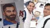 Mumbai-based artist created Virat Kohli's mosaic using diyas.
