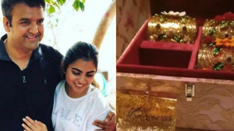 First glimpse of Isha Ambani and Anand Piramal's wedding card.
