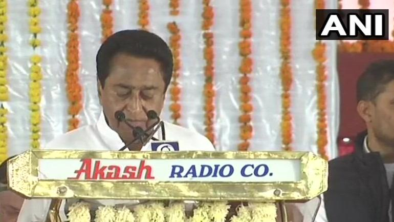 Image result for Kamal Nath takes oath as Chief Minister of Madhya Pradesh
