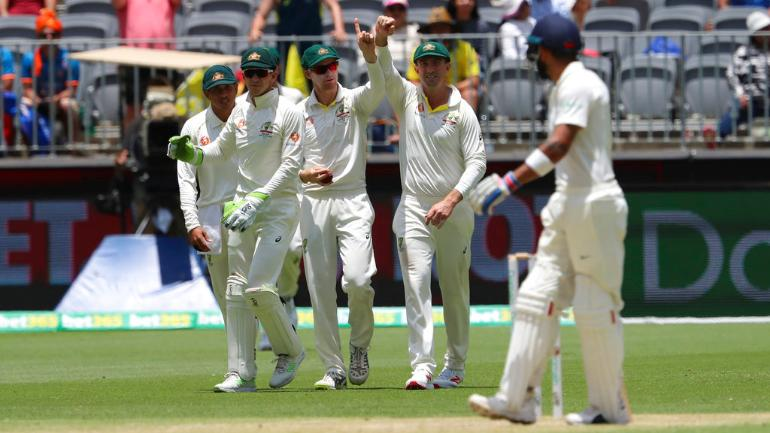 Virat Kohli was unhappy with the decision as he walked off the ground shaking his head
