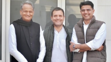 Congress chief Rahul Gandhi tweeted his photograph with Ashok Gehlot and Sachin Pilot and captioned it: 'The united colours of Rajasthan'.