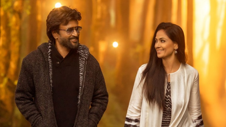 Petta New Poster Out Rajinikanth And Simran Look Adorable As Couple
