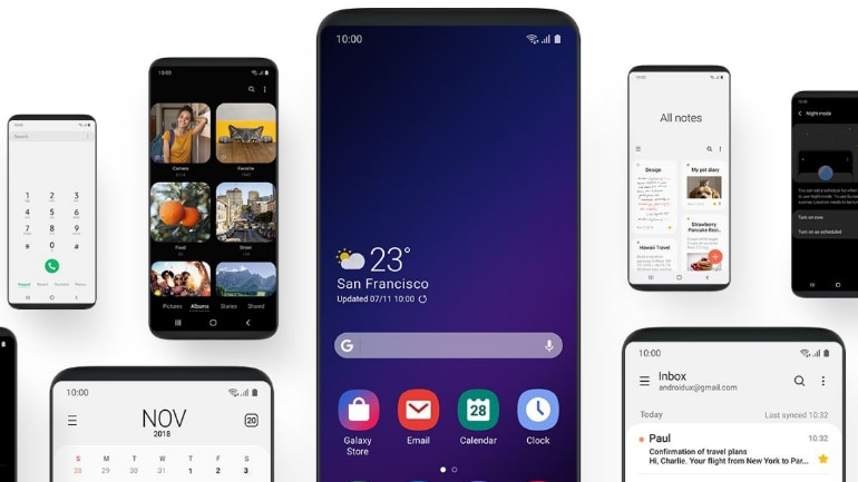 Samsung begins rollout of Android 9 Pie based OneUI version
