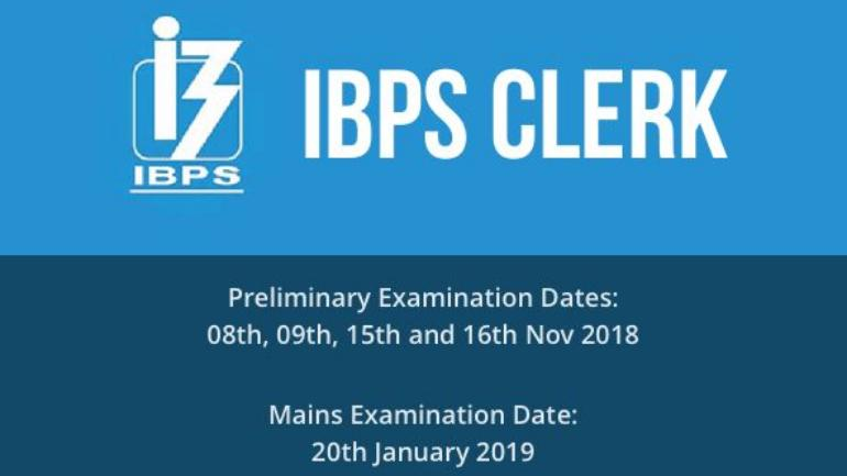 IBPS Clerk preliminary exams 2018 are divided into four time slots