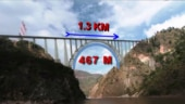 Page Title + URL: Chenab Bridge: Indian Railways on track for world's highest railway-arch bridge on river Chenab in Kashmir