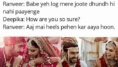 Hilarious memes on Deepika and Ranveer's wedding and reception.