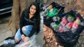 Pet bottles, plastic bottles, warm clothes, poverty, shelter, environment, devika chhabra