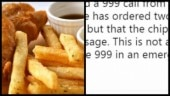 This woman called 999 for Fish and Chips. See people's reactions